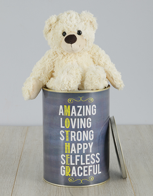 personalised: Personalised Mother Teddy Tin!