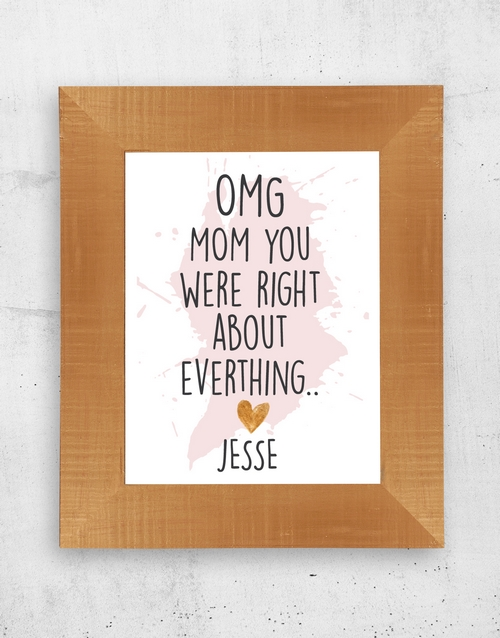 mothers-day: Personalised Mom Was Right Frame!