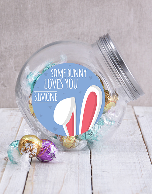 candy-jars: Personalised Some Bunny Loves You Candy Jar!