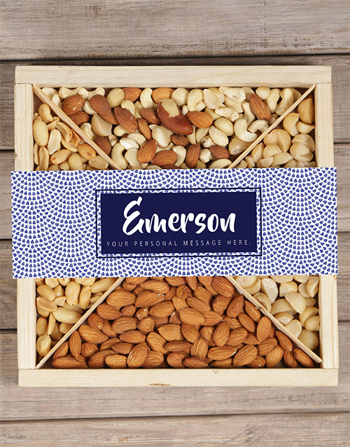 mothers-day: Personalised Blue Nut Tray!