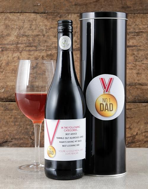 personalised: Personalised No 1 Dad Wine Tin!