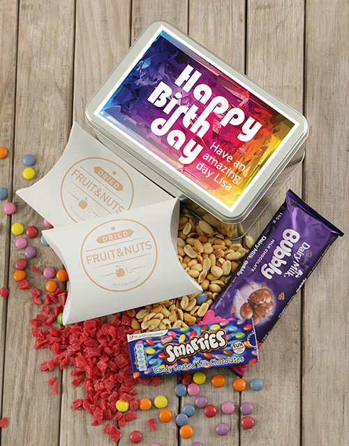 gourmet: Personalised Birthday Colour Snack Tin!