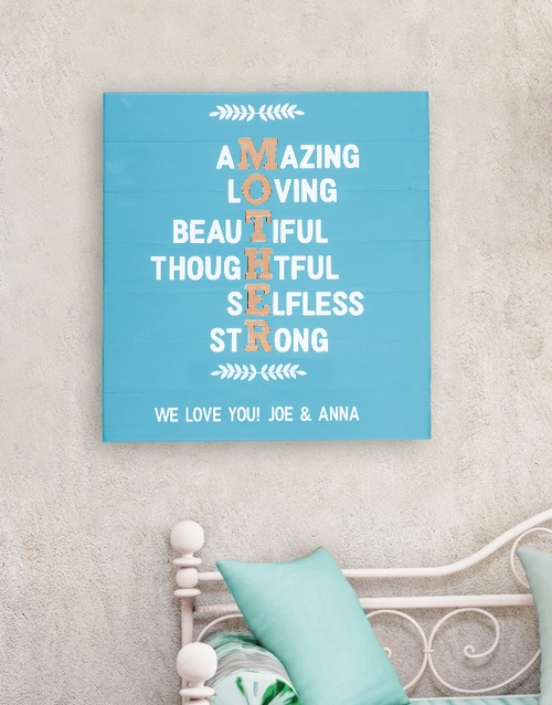 mothers-day: Personalised MOTHER Wall Art!