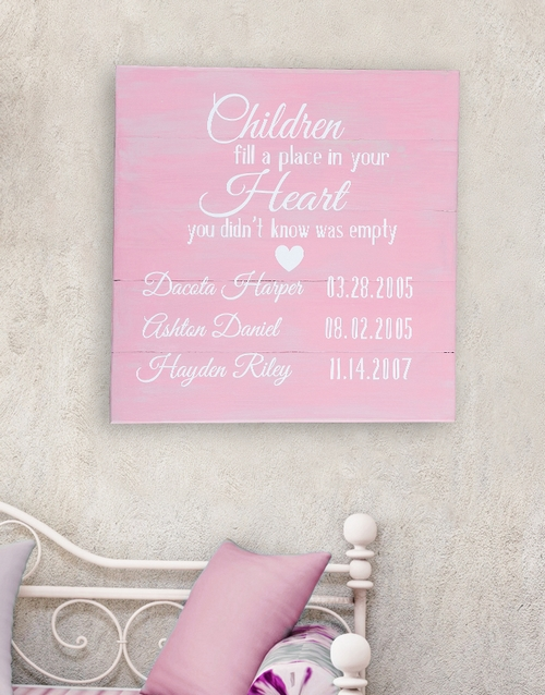 mothers-day: Personalised Children Birth Dates Wall Art!