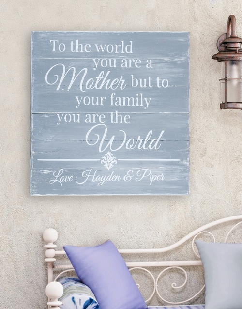 mothers-day: Personalised Mom is the World Wall Art!