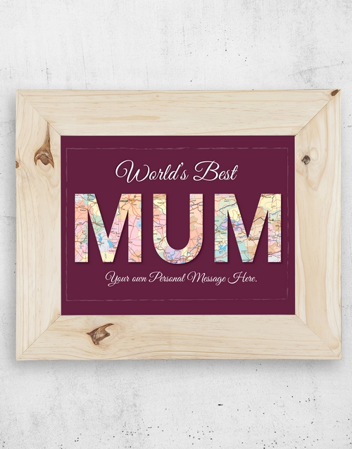 mothers-day: Personalised Best Mum Frame!