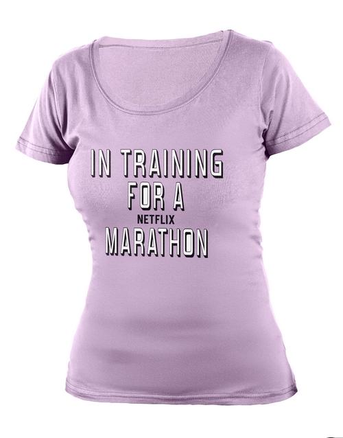 clothing: Personalised Lavender Netflix Ladies T Shirt!