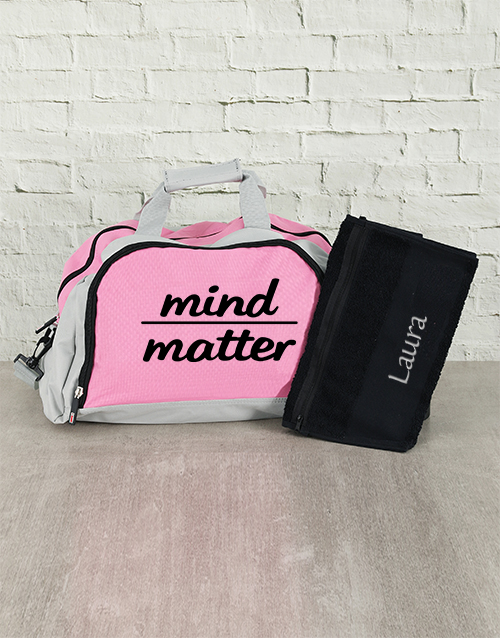 personalised: Personalised Mind Over Matter Sports Bag and Towel!