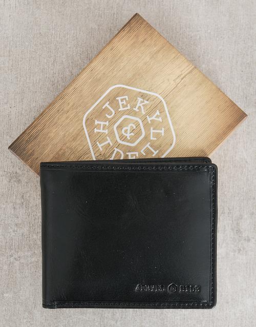 personalised: Jekyll and Hide Oxford Black Personalised Wallet!