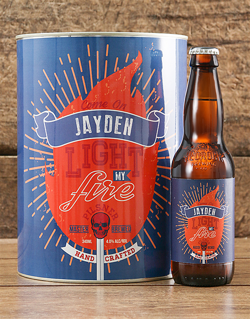 personalised: Personalised Light My Fire Craft Beer!