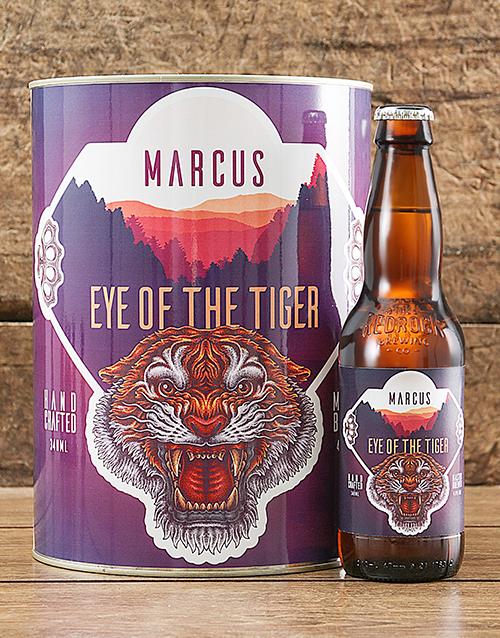 birthday: Personalised Eye Of Tiger Craft Beer!