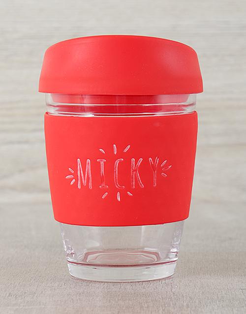 personalised: Red Personalised Travel Mug!