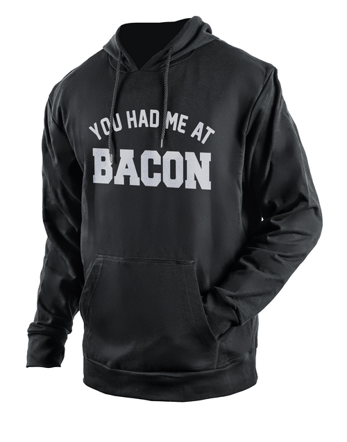 clothing: Personalised Black At Bacon Hoodie!