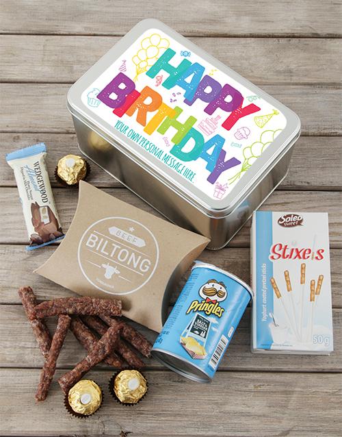 birthday: Happy Birthday Tin Personalised!