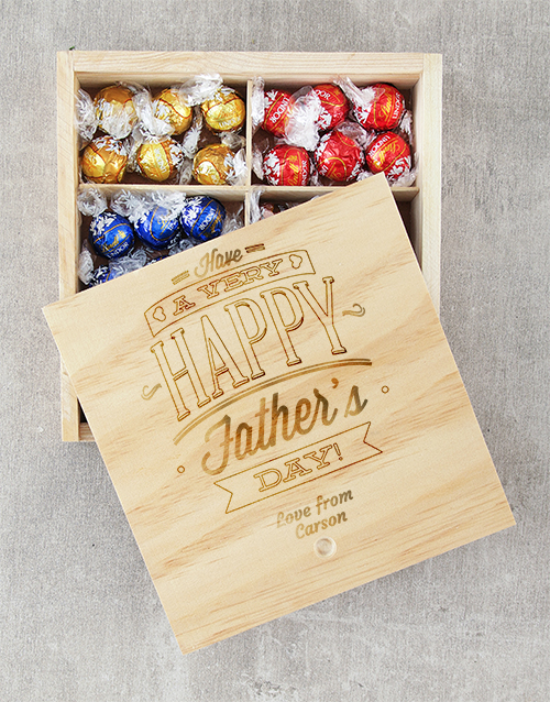 personalised: Personalised Happy Fathers Day Lindt Tray!