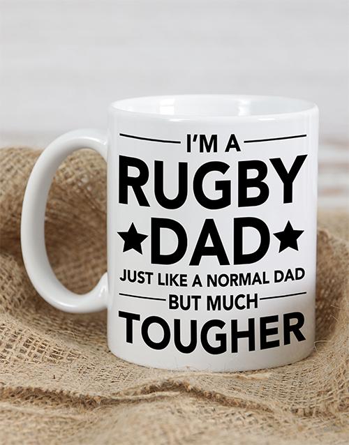 personalised: Personalised Rugby Dad Mug!