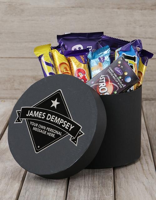 corporate: Personalised Star Label Choc Hat Box!