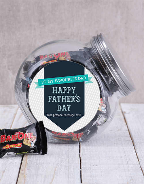 personalised: Personalised Favourite Dad Candy Jar!