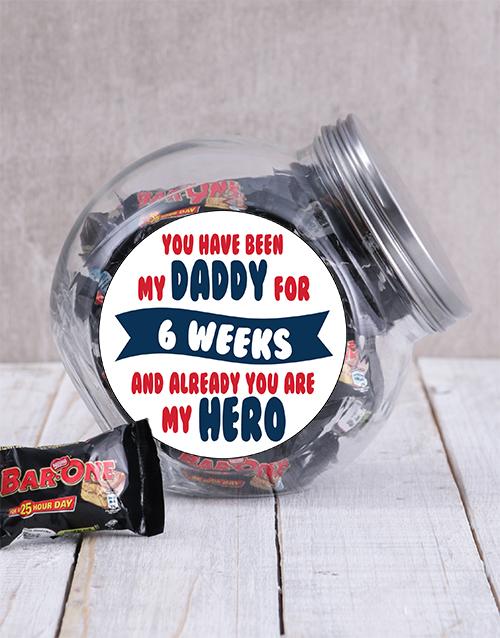 personalised: Personalised My Daddy My Hero Candy Jar!