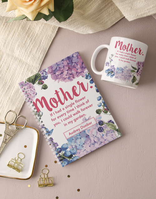 mothers-day: Personalised Mother Floral Notebook!