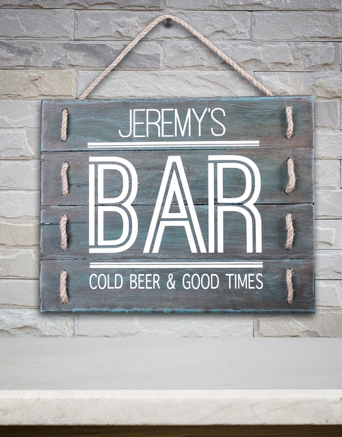 home-decor: Personalised Bar Good Times Hanging Panel Art!