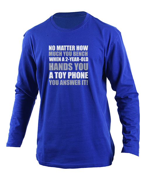 clothing: Personalised Answer It Longsleeve T Shirt!