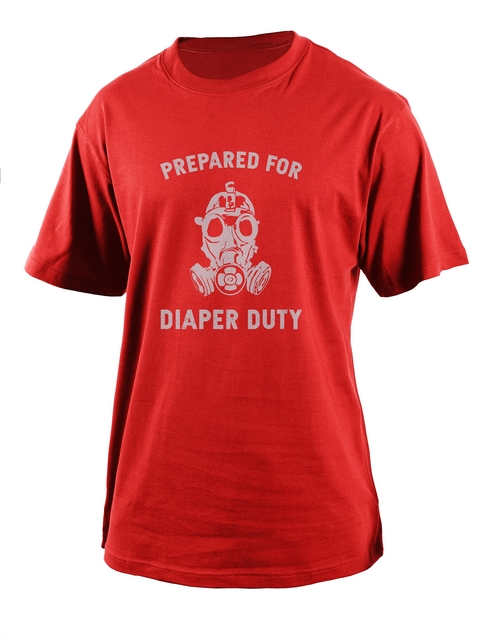 clothing: Personalised Diaper Duty T Shirt!