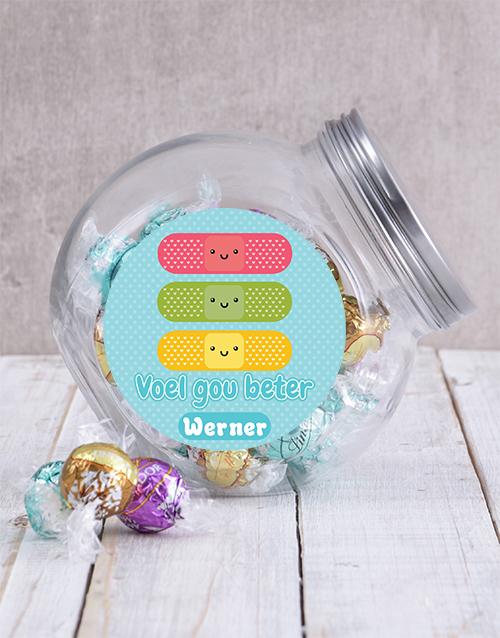 personalised: Personalised Voel Gou Beter Candy Jar!