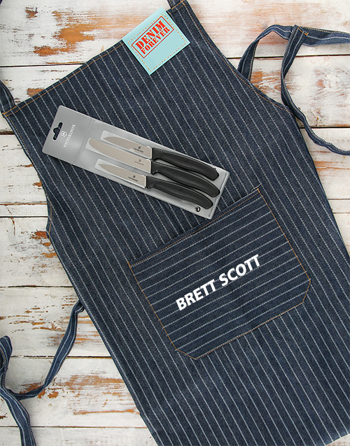 personalised: Personalised Victorinox and Apron Gift!