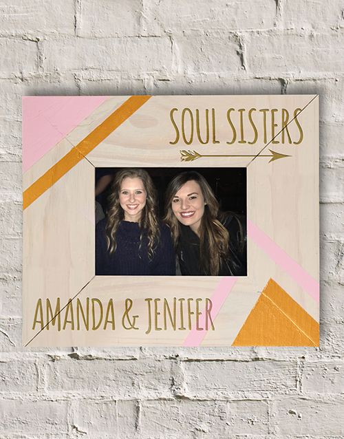 home-decor: Personalised Soul Sisters Photo Frame!