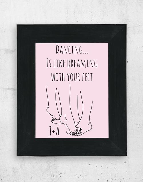 personalised: Personalised Dancing Wall Art!