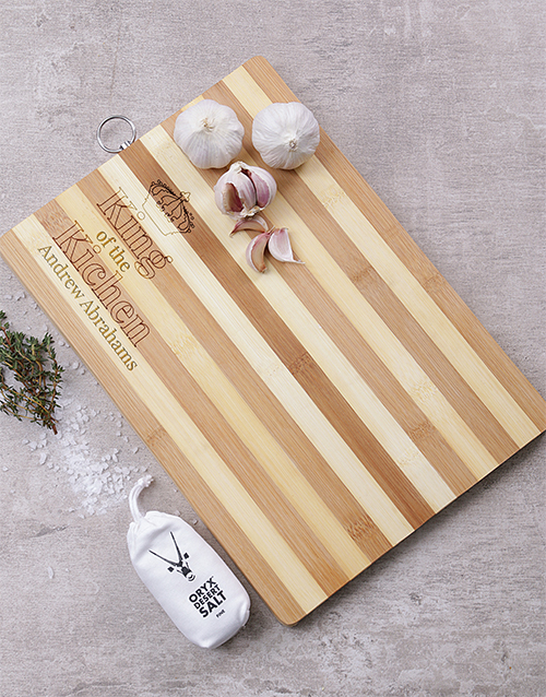 personalised: Personalised King Of The Kitchen Board!