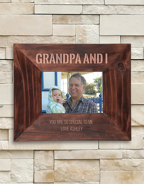home-decor: Personalised Grandpa and I Frame!