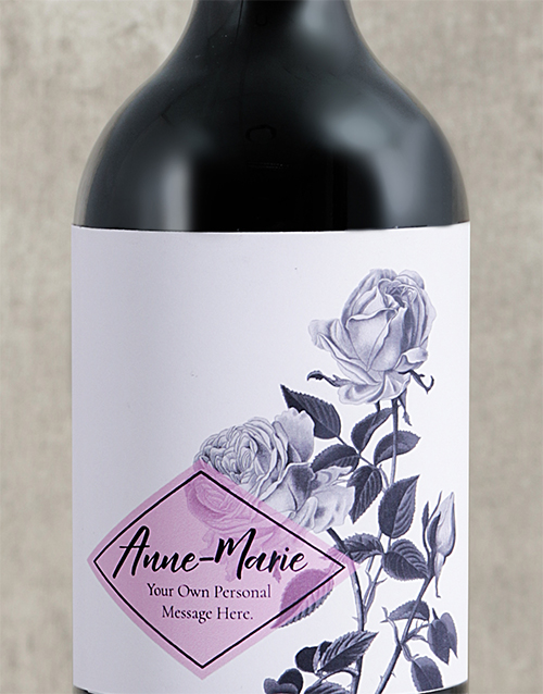 personalised: Personalised Purple Rose Wine!