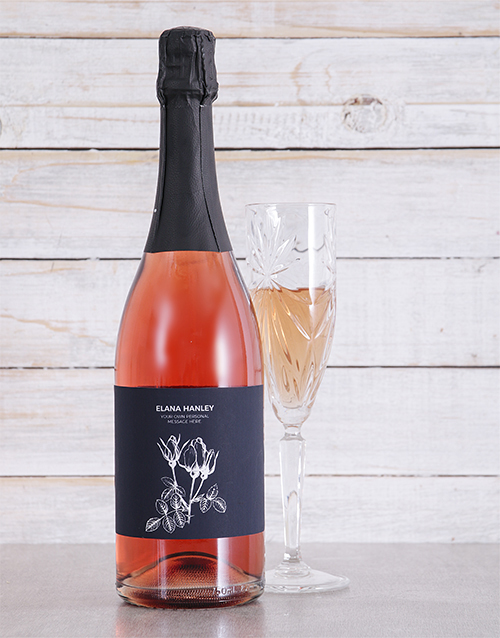 personalised: Personalised White Flower Sparkling Rose!