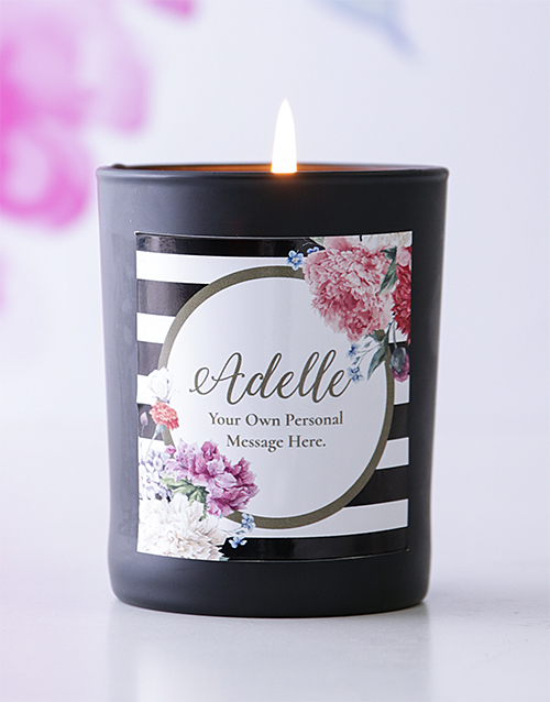 bath-and-body: Personalised Black Name and Message Candle!