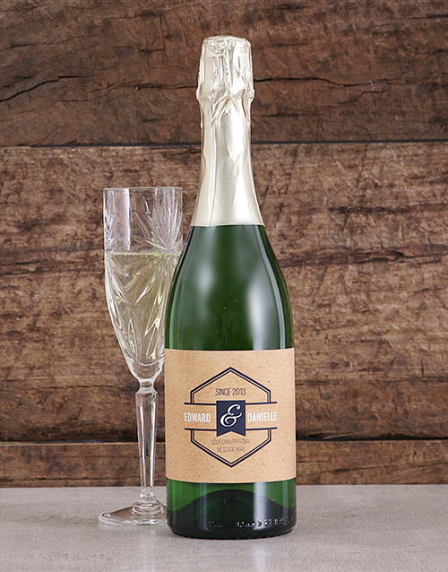 personalised: Personalised Vintage His and Hers Bubbly!