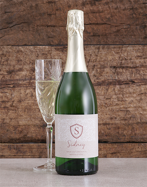 personalised: Personalised Monogram Shield Bubbly!