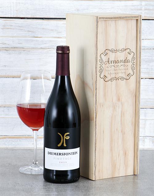 secretarys-day: Personalised Vintage Frame Wine Crate!