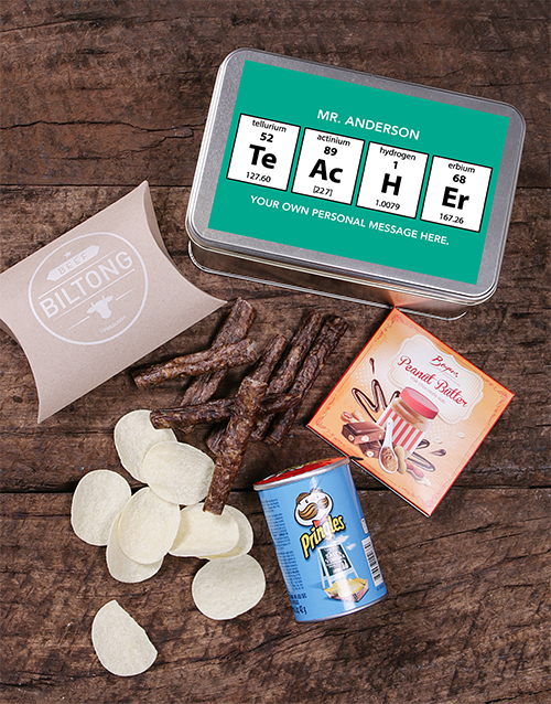 teachers-day: Personalised Periodic Table Snack Tin!