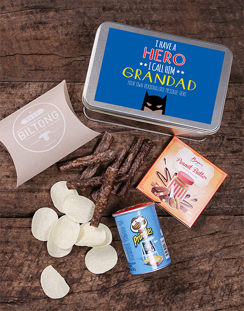 personalised: Personalised Grandpa Snack Tin!