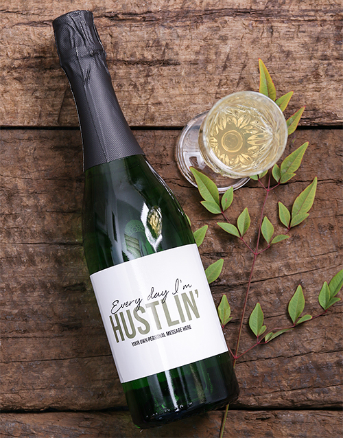 personalised: Personalised Hustlin Wine!