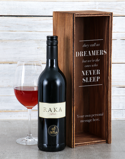 secretarys-day: Personalised Dreamers Wine Crate!