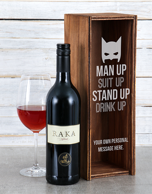 personalised: Personalised Suit Up Wine Crate!