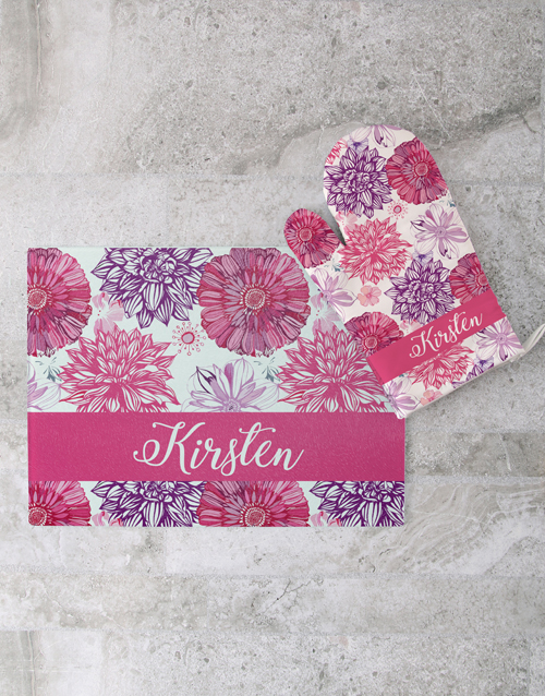 mothers-day: Floral Glass Chopping Board Personalised!
