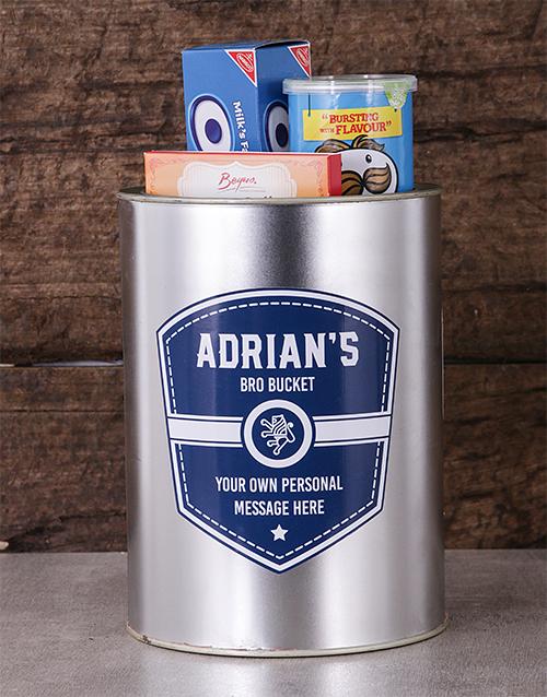 man-crates: Personalised Navy Shield Bro Bucket!