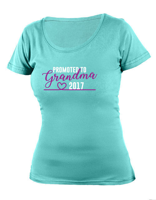 mothers-day: Personalised Promoted to Grandma T Shirt!
