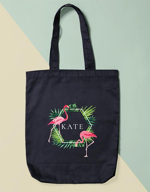 personalised: Personalised Flamingo Tote Bag!