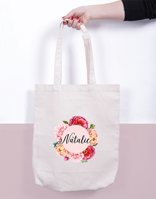 mothers-day: Personalised Floral Tote Bag!