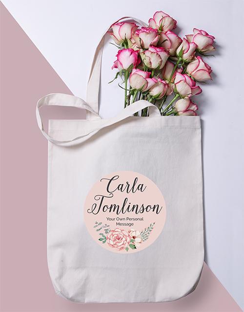 personalised: Personalised Floral Wonder Tote Bag!